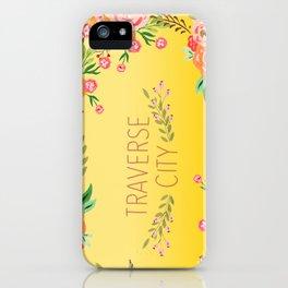 yellow tc flower iPhone Case