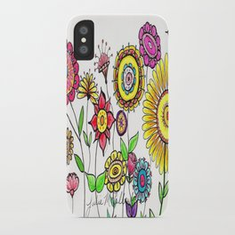 Bright Flowers iPhone Case