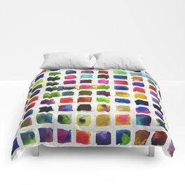 Watercolor Squares Comforters