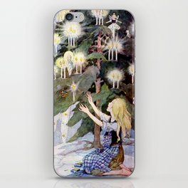 """The Little Match Girl"" Vintage Art by Anne Anderson iPhone Skin"