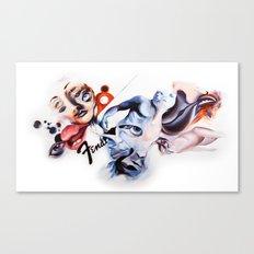 P.O.A.M Fender Canvas Print