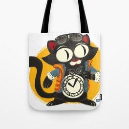 Time Cat Tote Bag