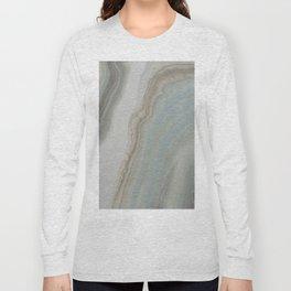 Geode in Blue Long Sleeve T-shirt