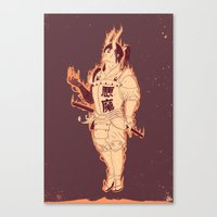 demon Canvas Prints featuring DEMON by andbloom