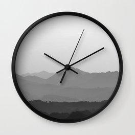 A Mountain Sunset Wall Clock