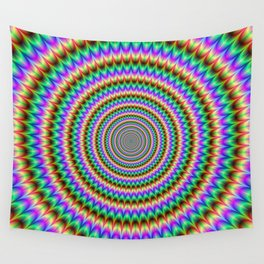 Psychedelic Circles Wall Tapestry