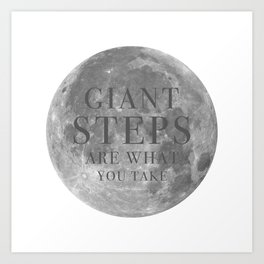Giant steps | W&L003 Art Print