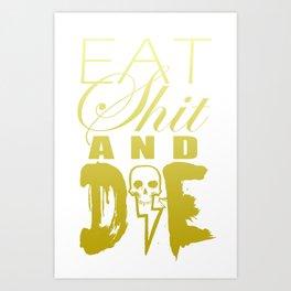 Words of Wisdom Gold  Art Print