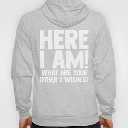Here I Am What Are Your Other 2 Wishes Adult Funny Sarcasm Humor Hoody