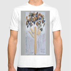WOODEN TREE Mens Fitted Tee White MEDIUM