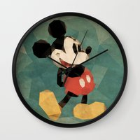 mickey Wall Clocks featuring Mr. Mickey Mouse by Ed Burczyk