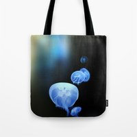 abyss Tote Bags featuring Abyss by Art Goes Up