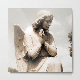 Angel Praying Guardian Angel Solitude Peaceful Angel Home Decor Metal Print