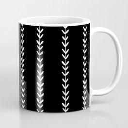 Linocut arrow stripes minimal black and white arrows chevrons Coffee Mug