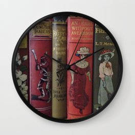 Decorated Spines II Wall Clock