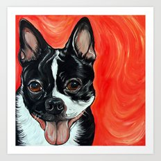 Boston Terrier Dog Art Art Print