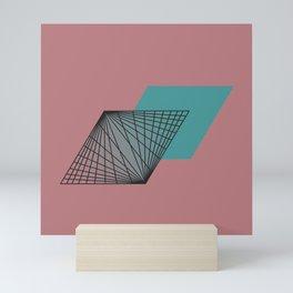 Triangular Grid - Sacred Geometry Mini Art Print