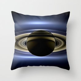 Rings of Saturn During Eclipse of the Sun Spacecraft Fly-by Photograph Throw Pillow