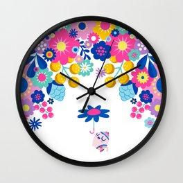 Life in Full Bloom Wall Clock