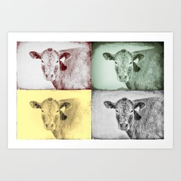 Here's Looking at Moo Art Print