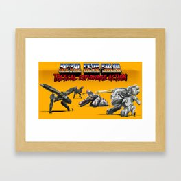 Pixel Art Metal Gear Solid Framed Art Print