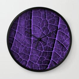 LEAF STRUCTURE ULTRAVIOLET Wall Clock