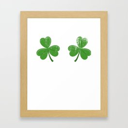 Funny Irish Shamrocks Boobs design Celtic Saint Patrick Day Framed Art Print