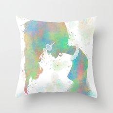 Pastel Silhouette Throw Pillow