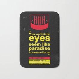 Depeche Black - Your Optimistic eyes - Mode Celebration Bath Mat