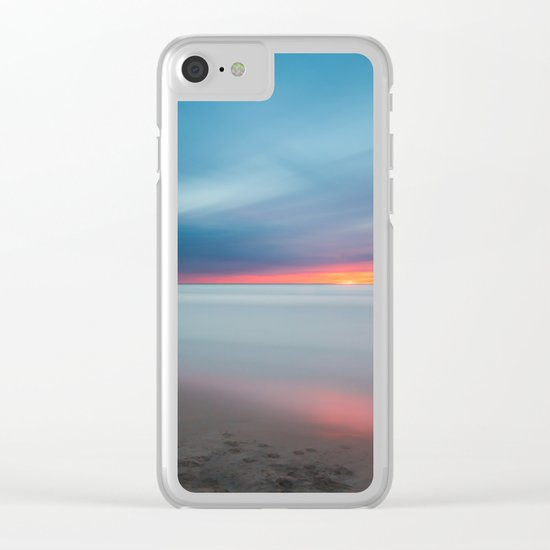 Sunset pastel #ocean Clear iPhone Case