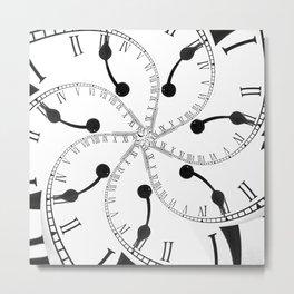 Clock Flower Metal Print