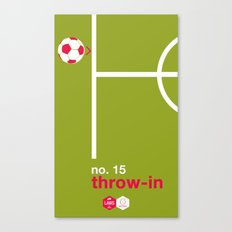 Throw-in (No.15) Canvas Print