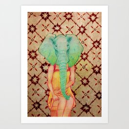 The Elephant Girl Art Print