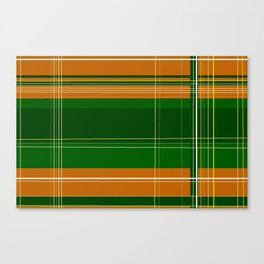 Green and Orange Plaid Canvas Print