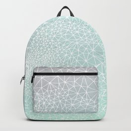 Organic Celestial Geometry on concrete and mint Backpack