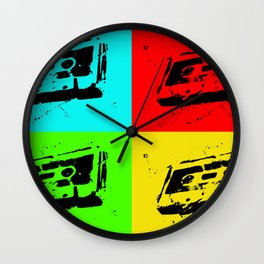 Cassettes Square Wall Clock