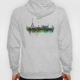 Paris Skyline watercolor Hoody