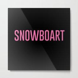 Snowboart Metal Print