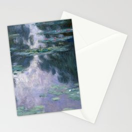 monet water lilies colorful Stationery Cards