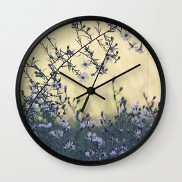 Wild Asters Botanical Wall Clock