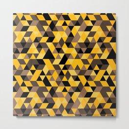Hufflepuff pattern Metal Print
