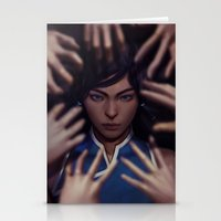 the legend of korra Stationery Cards featuring Korra by Meder Taab