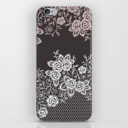 Lace. Roses. iPhone Skin