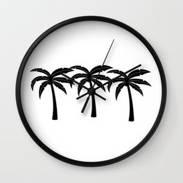 Tropical Palm Trees Wall Clock