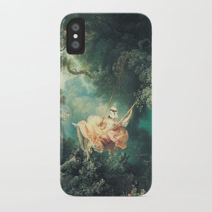 "Homage to Fragonard, ""The Swinging Stormtrooper"". iPhone Case"