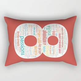 Life Path 8 (color background) Rectangular Pillow