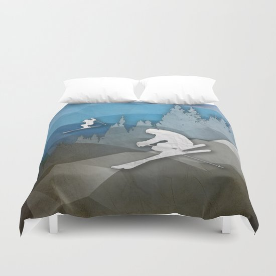 The Skiers Duvet Cover