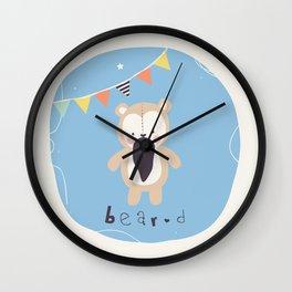 Barry Bear Wall Clock