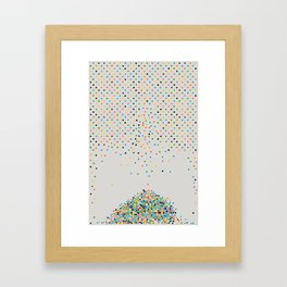 Polka Don't Framed Art Print