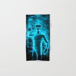 Virtual Reality User Hand & Bath Towel
